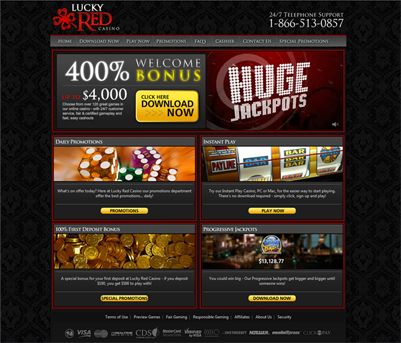 Lucky red casino comp points